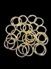 Anahtarlık Halkası Altın Rengi 2,5 Cm 12 Adet