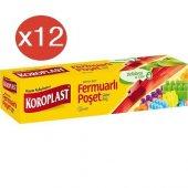 Koroplast Fermuarlı Poşet Büyük 12li X 12 Paket (26*28)