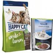 Happy Cat Adult Weide Lamm Kuzu Etli Yetişkin Kedi Maması 4 Kg