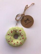 Amigurumi Donut Anahtarlık (Organik El Örgüsü)