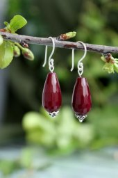 Stoneage Jewellery Küpe Gümüş Ceyt Doğal Taş