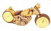 Pologift Polyester Dekoratif Sarı 3 Motor Masa Saati-2