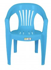Ayder Plastik Sandalye Çubuk Mavi 4 Adet