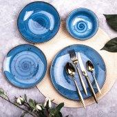 Marianna Azur 24 Parça Yemek Takımı Mavi