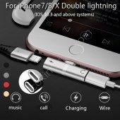 Apple İphone 7 8 Plus  X Xr Xs Kulaklık Şarj Dönüştürücü Çevirici Adaptör Çoklayıcı Aparat -3