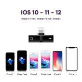 Apple İphone 7 8 Plus  X Xr Xs Kulaklık Şarj Dönüştürücü Çevirici Adaptör Çoklayıcı Aparat -5