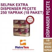 Selpak Extra Dıspenser Peçete 250 Yaprak (18...