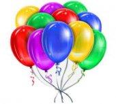Balon Metalik Baskısız 10ınc Karışık Pakette...