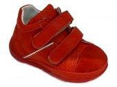 Pappikids206 Ortopedik Deri Erkek Kız Çocuk İlk Adım Ayakkabısı Bot Kırmızı Renk