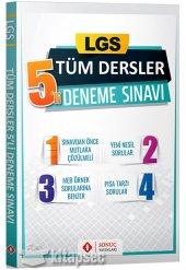 LGS Tüm Dersler 5 li Deneme Sınavı Sonuç Yayınları