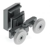 Anpa112 K Duşakabin Slot Ayarlı Kapaklı Rulmanı Tekerlek Tekeri Makarası