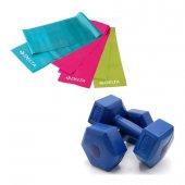 Delta 2 Kg X 2 Adet Plastik Dambıl 3lü Pilates...