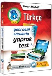 çanta Yayınları 8.sınıf Türkçe Yaprak Test