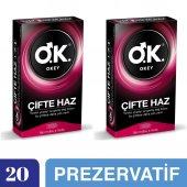 Okey Çifte Haz Prezervatif, 20li Ekonomik Avantaj Paket