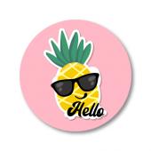 Ananas Etiket 3x3 cm 24 Adet