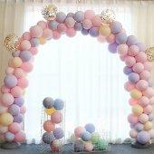1 Yaş Pembe Balon Zinciri Zincir Balon Yapım Seti 102 Parça