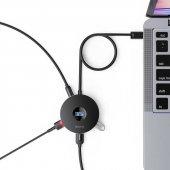 Baseus Round Box Hub Adapter (Usb3.0 To Usb3.0*1+usb2.0*3)1m Siyah