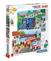 Clementoni Kurtarma Kahramanları 2x60 Parça Erkek Çocuk Puzzle