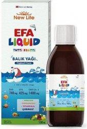 NewLife EFA Liquid Tutti Frutti Balık Yağı Şurubu 150ml