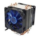 Snowman X4 Çift Fanlı 4 Bakır Kanallı Universal Lga775 115x Uyumlu Cpu Fan