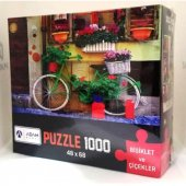 Puzzle 1000 Parça K. Bisikletler Ve Çiçek...