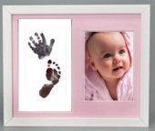 Küçük İzler resimli çerçeveli inkless wipe el-ayak izi alma kiti
