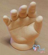 Küçük İzler 3 boyutlu bebek el izi heykeli ( aljinat kalıp tozu ile )-2