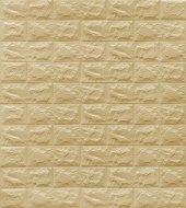 New Wall Renkliduvarlar Kendinden Yapışkanlı Esnek Sarı Renk Tuğla Desen Duvar Paneli