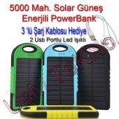 5000 Mah Solar Güneş Enerjili Powerbank (Şarj Aleti)