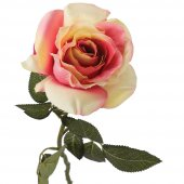 Tmall Home Design Pembe ve Beyaz Gül Yapay Çiçek 66 cm