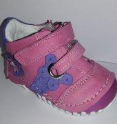 Pappikids237 Ortopedik Deri Kız Bebe İlk Adım Ayakkabısı Bot Pembe