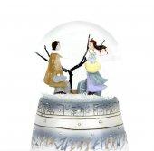 Kış Masalı Müzik Kutusu Kar Küresi Pilli Işıklı Müzikli