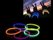 10 Adet Glow Stick Bracelet Fosforlu Kırılan Çubuk BiIeklik