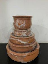 Mahir Güveç Toprak TAVA yuvarlak Derin 16 cm 4 - 6 kişilik-4