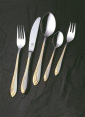 Sonja Mat Altın Solingen 96 Parça Orjinal Kutularında Çatal Kaşık Bıçak Seti
