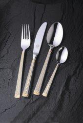 Nıcole Mat Altın Solingen 96 Parça Orjinal Kutularında Çatal Kaşık Bıçak Seti