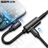 Esr Type C To Type C +3.5 Mm Elbow Converter, Dönüştürücü