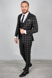 DeepSEA Kabartmalı Ekose Desenli Takım Elbise 2001145-11