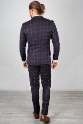DeepSEA Kabartmalı Ekose Desenli Takım Elbise 2001145-5