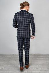 DeepSEA Kabartmalı Ekose Desenli Takım Elbise 2001145-10