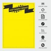 İndirim Reklam Promosyon Kampanya Market ve Mağaza Fiyat Afişi Görsel Sarı Kuşe Kağıt 50x70CM 1000 ADET