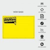 Indirim Reklam Promosyon Kampanya Market Ve Mağaza Fiyat Afişi Görsel Sarı Kuşe Kağıt 50x70cm 500 Adet