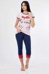 Kısa Kol My Siples Altı Kapri Kadın Pijama Takımı 6810