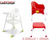 Carvensa Perilla Pratik Mama Sandalyesi Beyaz Ücretsiz Kargo