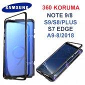 Samsung Note 9 Mıknatıslı Cam 360 Tam Koruma