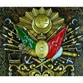 Osmanlı Devlet Arması Tablo (Yeşil)-2