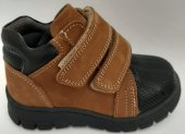 Pappikids249 Ortopedik Deri Erkek İlk Adım Ayakkabsı Bot Kahverengi