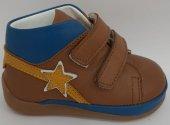 Pappikids243 Ortopedik Deri Erkek İlk Adım Ayakkabısı Kahverengi
