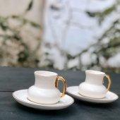 Acar Porselen 2li Beyaz Kahve Fincan Takımı