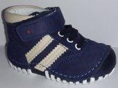 Pappikids239 Ortopedik Deri Erkek İlk Adım Ayakkabısı Bot Lacivert